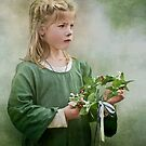 Girl with garland by Jan Pudney