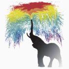 Elephant Rainbow by FlyNebula