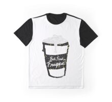 """But First Frappe"" Hand Painted Coffee Cup Graphic T-Shirt"