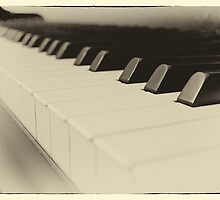 Vintage Filter Piano Keys by BronwynBell