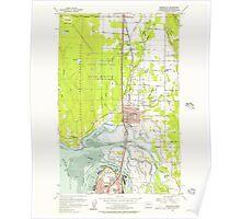 USGS Topo Map Washington State WA Marysville 242204 1956 24000 Poster