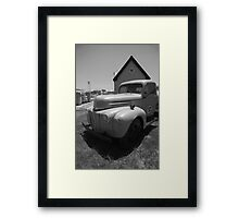 Route 66 Truck and Gas Station Framed Print