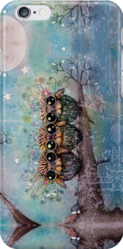 three little night owls by © Karin  Taylor