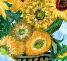 Sunflowers in Darth Vader Vase Sticker