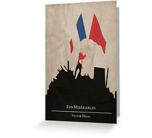 Les Miserable - Victor Hugo Greeting Card