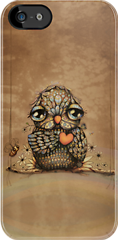 You're on my Heart Owl iPhone and iPod case by © Karin  Taylor