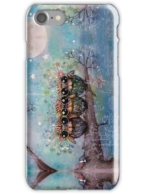 three little night owls iPhone and iPod case by © Karin Taylor