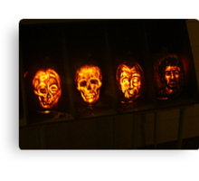Scary Pumpkin Faces, The Great Jack O'Lantern Blaze  Canvas Print