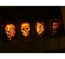 Scary Pumpkin Faces, The Great Jack O'Lantern Blaze  Photographic Print