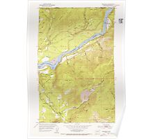 USGS Topo Map Washington State WA Boundary 240175 1952 24000 Poster