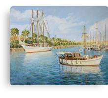 Port Vell in Barcelona Canvas Print