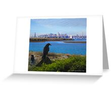 Crows Watch Greeting Card