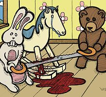 Teddy Bear and Bunny - The Price Of Freedom by Brett Gilbert