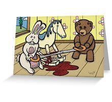 Teddy Bear and Bunny - The Price Of Freedom Greeting Card