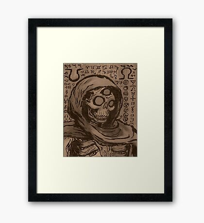 Occult Macabre Monochrome Framed Print