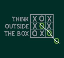 Think Outside the Box (White) by ezcreative