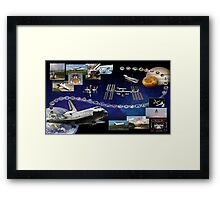 Shuttle Atlantis (OV-104) Tribute Framed Print