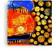 Orange Jelly Jelly - Monotype/Linocut Canvas Print