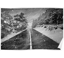 Snowstorm in the road Poster