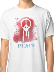 spray painted peace Classic T-Shirt