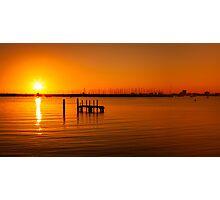 St Kilda Pier Sunset Photographic Print