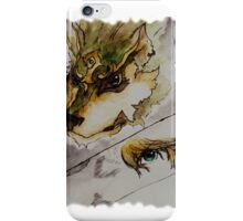The Twilight Wolf (Faded) iPhone Case/Skin