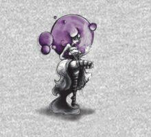 Rainbow Punk: Psychedelic Purple One Piece - Short Sleeve