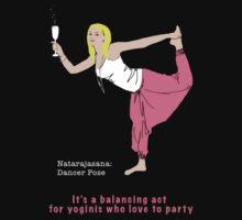 Natarajasana - party style by Amanda Latchmore