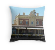 'Junee' Railway Station. Architecture, country town, N.S.W.  Throw Pillow