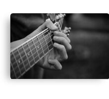 Guitar Hands Canvas Print
