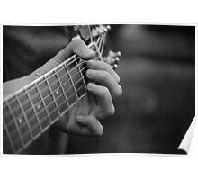 Guitar Hands Poster