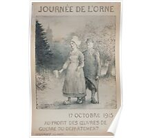 Journée de lOrne 17 octobre 1915 Au profit des oeuvres de guerre du Département Poster