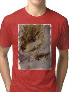 The Twilight Wolf  2 Tri-blend T-Shirt