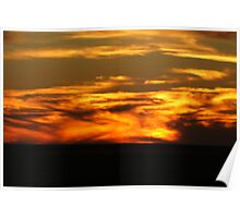 Mundi Mundi sunset Poster