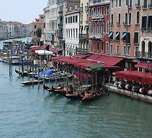 Gondolas in Venice by ymadezigns
