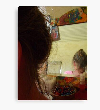 on becoming aquainted Canvas Print