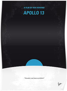 No151 My Apollo 13 minimal movie poster by Chungkong