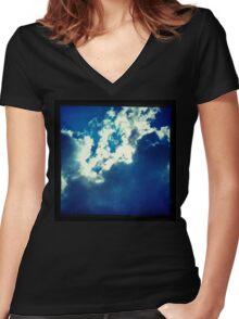 SKYSHIRT 017 Women's Fitted V-Neck T-Shirt