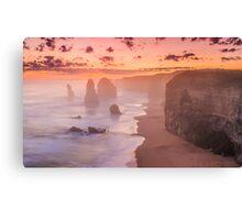 Misty sunset at the twelve apostles Canvas Print