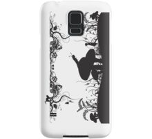 Alice's Adventures in Wonderland Black and White Illustrated Quote Samsung Galaxy Case/Skin