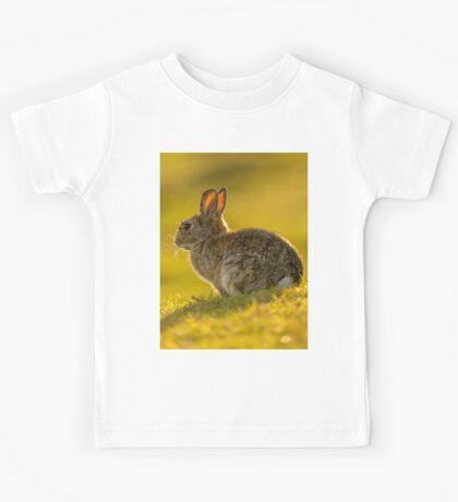 Cute Rabbit Wildlife Golden Hour Kids Tee