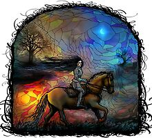 Riding into the night by Daywish