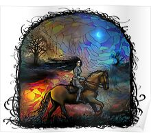 Riding into the night Poster