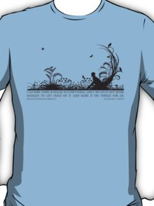 Secret Garden Black and White Illustrated Quote T-Shirt