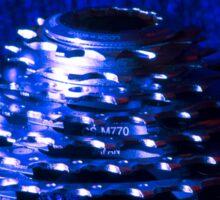 Blue Bike Cassette Gears Sticker