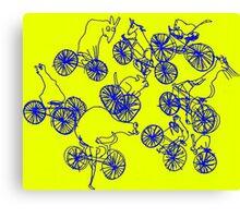 Bikey Likey - Yellow Canvas Print