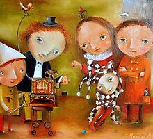 Court Organ-Grinder by Monica Blatton