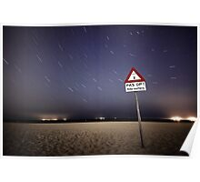 Beware of Kite Surfers Poster