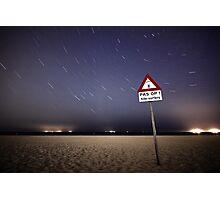 Beware of Kite Surfers Photographic Print