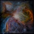 Orion Nebula resin painting by Alizey Khan